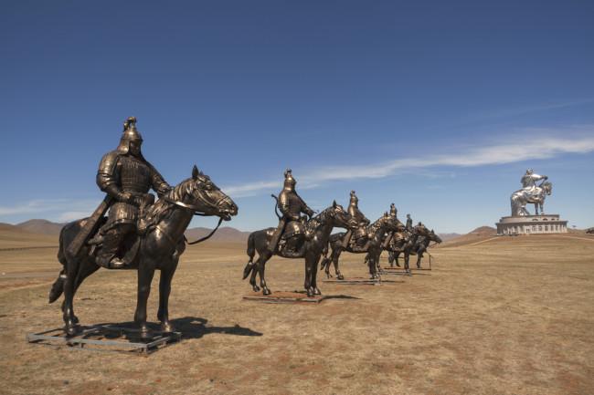 genghis khan on a horse - shutterstock