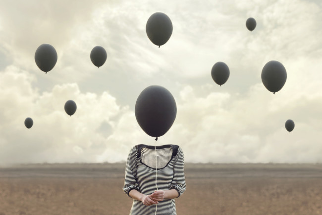Balloon Head Dream - Shutterstock