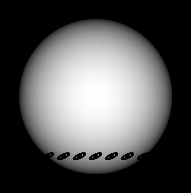 Ringed exoplanet Transit Simulation - Piro/Vissapragada