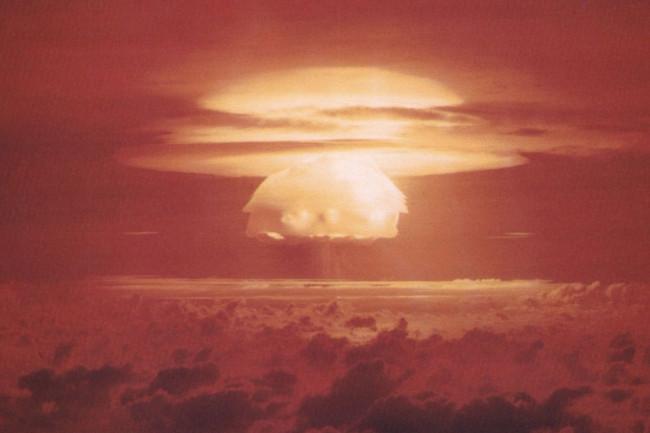 Nuclear weapon test Bravo on Bikini Atoll 1954 Public Domain