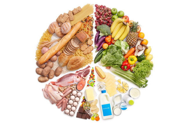 Food groups peace sign - shutterstock
