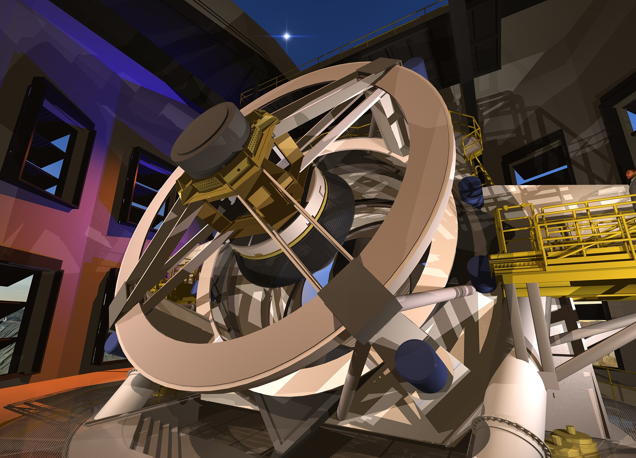 DSC-FT1119 07 Large Synoptic Survey Telescope rendering - interior