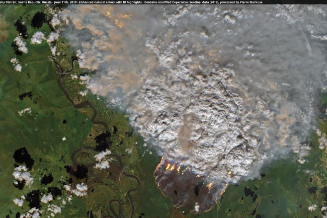 Siberia wildfires - Copernicus Sentinel & Pierre Markuse
