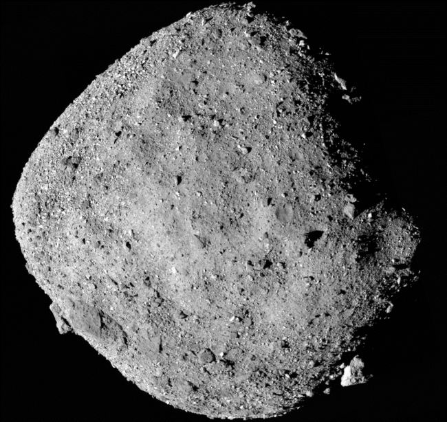Behold Bennu, the diamond-shaped rubble-pile asteroid, as imaged by OSIRIS-REx. (Credit: NASA/University of Arizona)