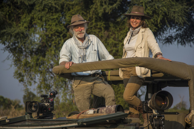 Dereck and Beverly Joubert, caught in their native habitat. (Credit: Wildlife Films)