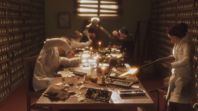 The scientists at Nikolai Vavilov's Institute of Plant Industry kept working diligently through the Nazi siege of Leningrad, as depicted here in episode 4 of Cosmos. (Credit: Cosmos Studios)