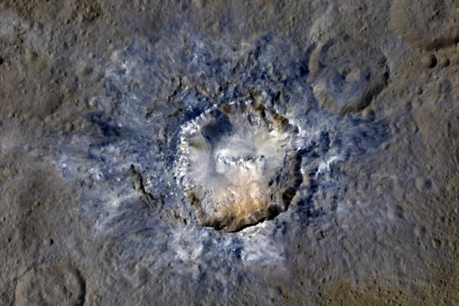 Ceres Dwarf Planet Haulani Crater