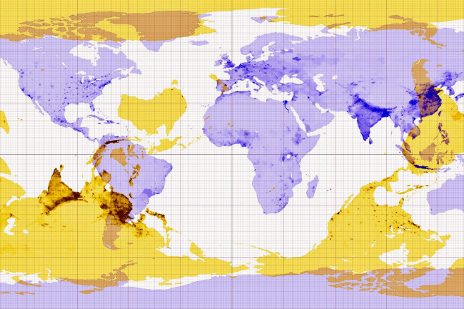 Earth's Antipode Map - imgur