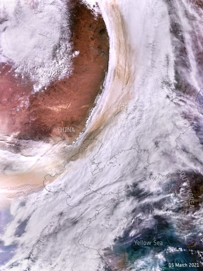 Satellite View of Asia's Deadly Dust Storm
