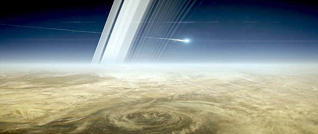 NASA will crash Cassini into Saturn in September, to make sure the probe doesn't contaminate one of the planet's potentially habitable moons. (Credit: NASA-JPL)