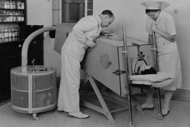 polio iron lung - shutterstock
