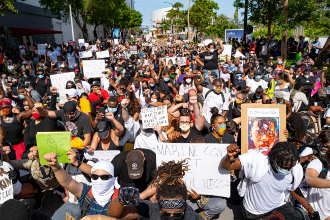 BLM protest Florida - shutterstock