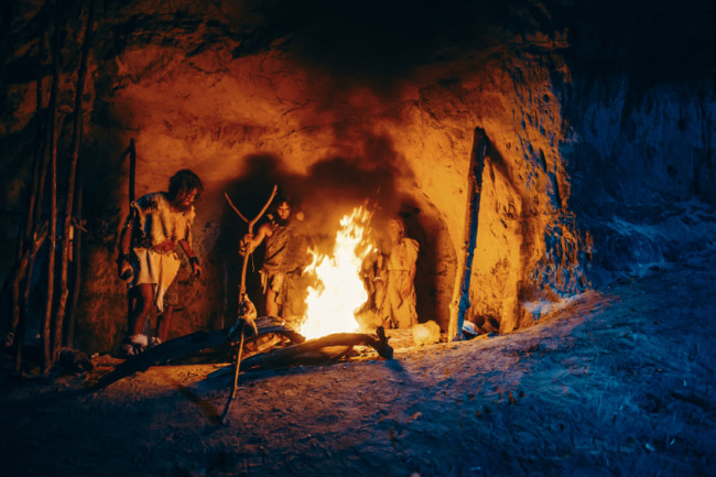 Neanderthals ancient human fire - shutterstock