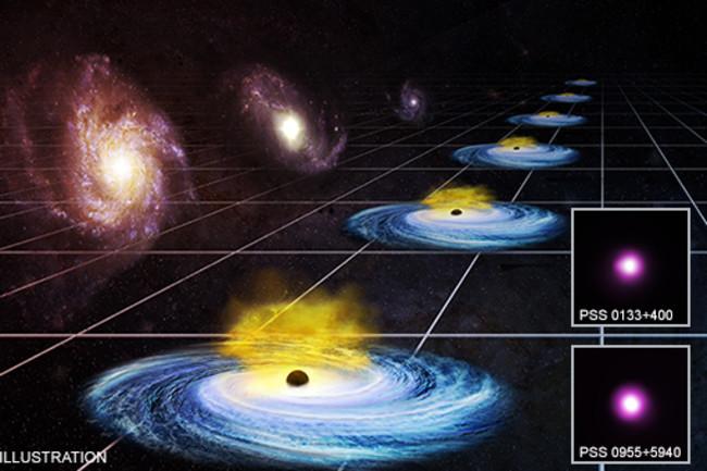 Credit: Illustration: NASA/CXC/M.Weiss; X-ray: NASA/CXC/Univ. of Florence/G.Risaliti & E.Lusso