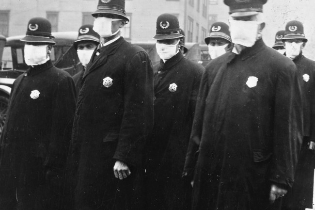 1497px-Spanish flu in 1918, Police officers in masks, Seattle Police Department detail, from- 165-WW-269B-25-police-l (cropped)