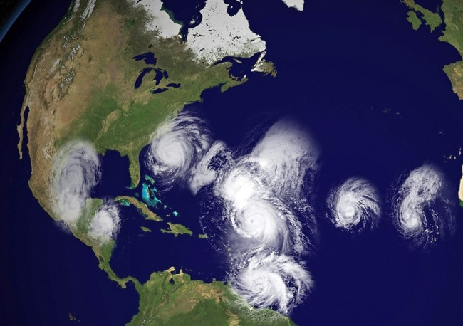 map of hurricanes hitting US