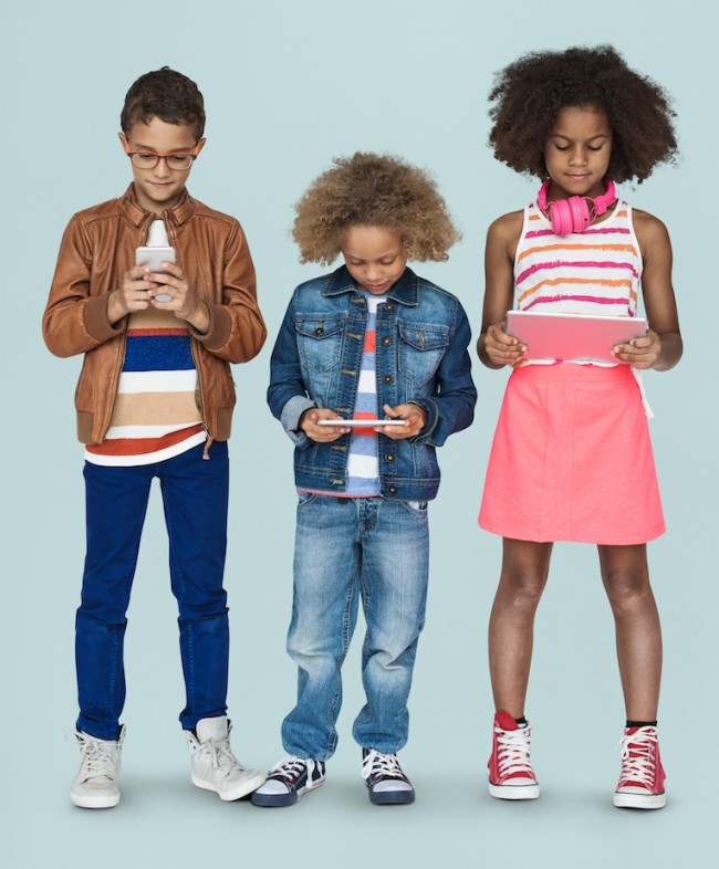 Kids on Phones - Shutterstock