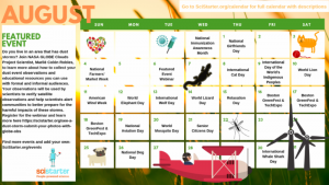citizen science august calendar