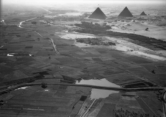 Giza pyramids nile river
