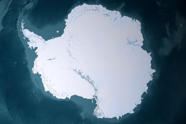 South Pole View From Above - shutterstock