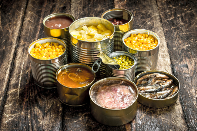 Canned Processed Foods - Shutterstock