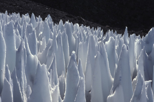 ice spikes like those on Earth shown here could harm europa lander