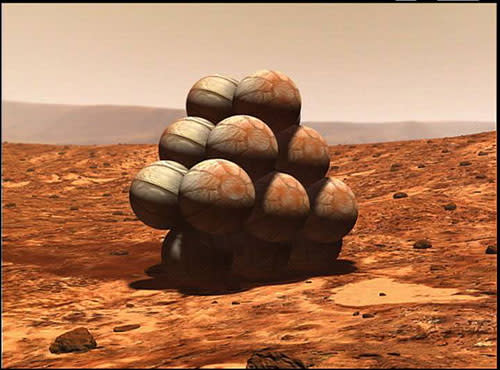 mars rover airbag