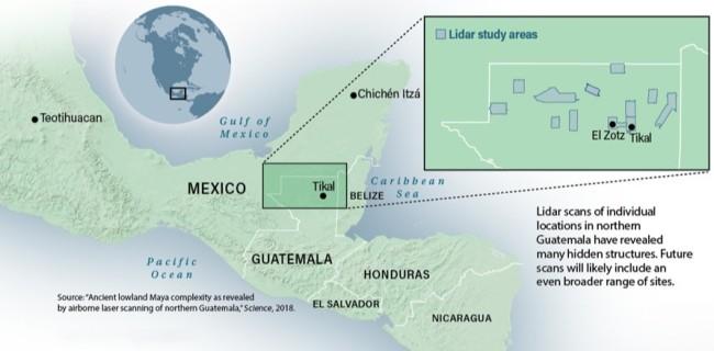 Guatemala Map Tikal - Mackey/Discover