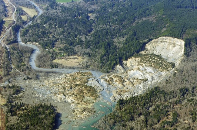 landslide in Oso, Wash.