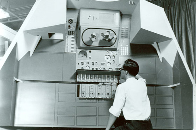 mockup of Apollo Guidance Computer - MIT library