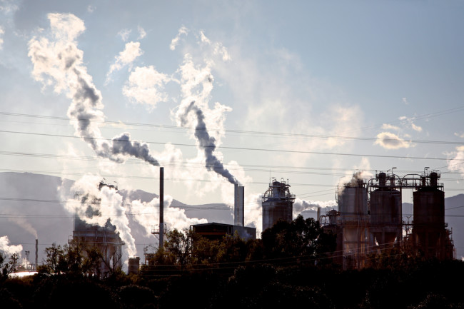 Methane Emissions Pollution Smokestacks - Shutterstock