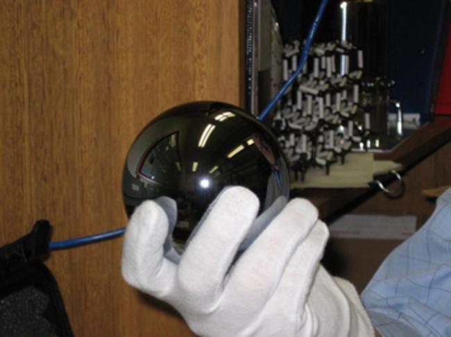 Silicon Sphere, Avogadro Project - Brynn Hibbert