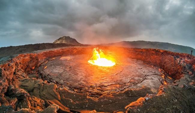 Lava bubbles out of Erta Ale volcano - Getty