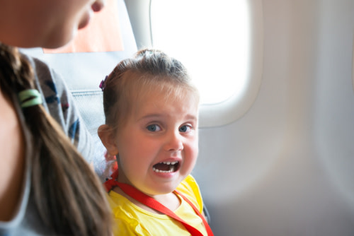 Screaming Kid Plane Shutterstock