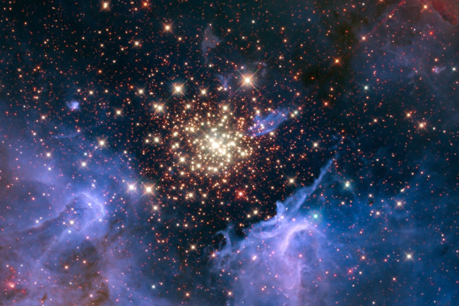 The universe in its infancy wasn't the bright place we know today.Credit: NASA/ESA