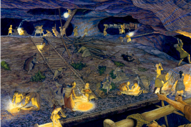 Artist Rendering of Hallstatt Salt Mine