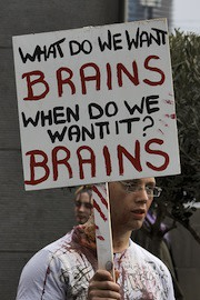 Two, four, six, brains.