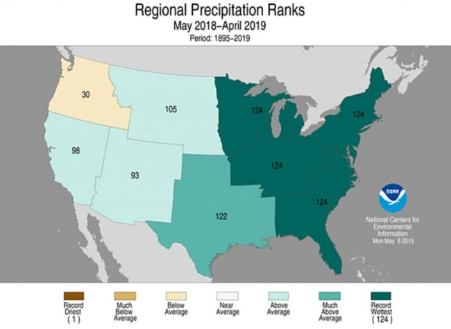 Regional Precipitation 2019 - NOAA
