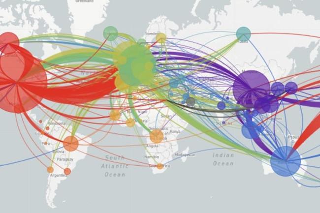 Coronavirus Map - nextstrain.org cc by