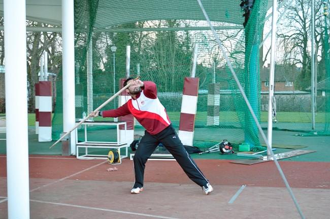 Athlete Throwing Replica Spear - Annemieke Milks