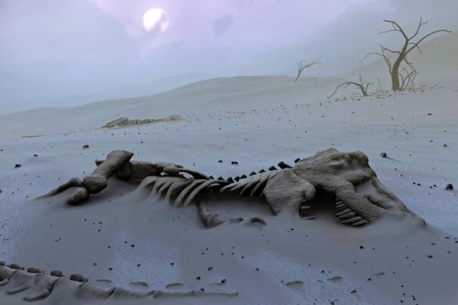 Mass Extinction Cretaceous Dino - Science Source DSC-C0818 06