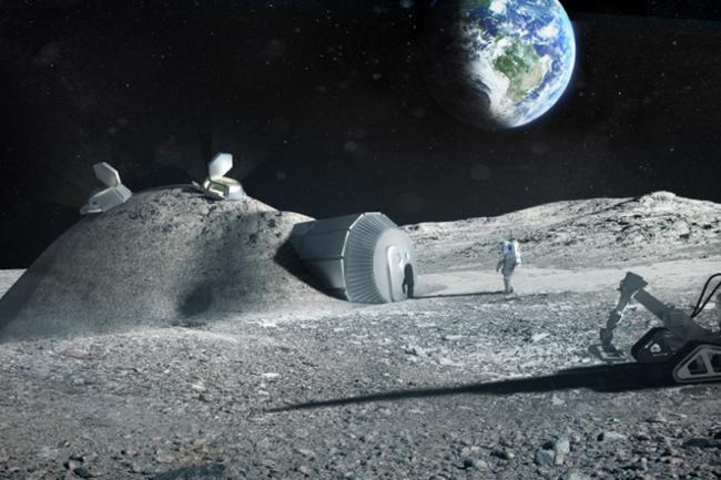 3D printed moon base lunar colony