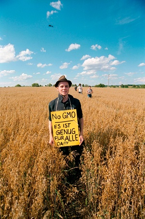 Strausberg, Germany protester