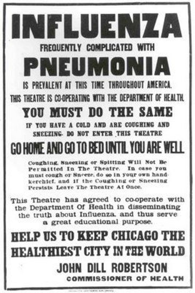 flu poster 1900s - OSU.edu
