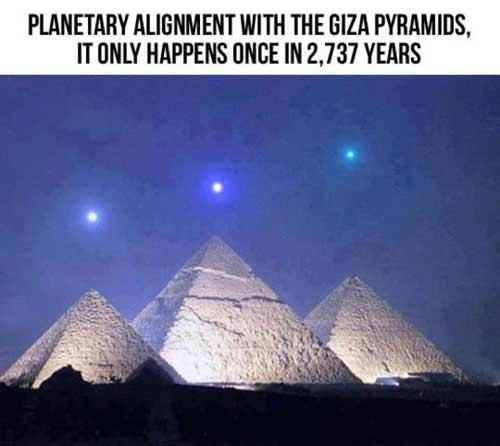 Planetary alignment pyramid scheme