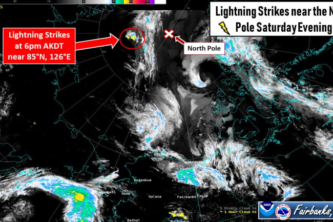 Lightning Near North Pole - NWS