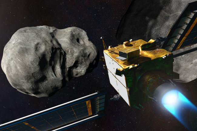 In 2022, the DART mission will practice deflecting an asteroid by crashing into it. But for now, there are no known asteroids that actually need deflection. (Credit: NASA/JHU-APL)