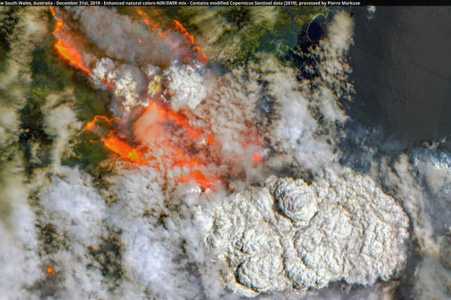 Australian Bushfires Seen From Space
