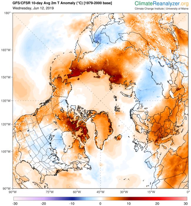 June 12, 2018 temperature map - University of Maine