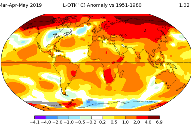 Second Warmest Spring Ever 2019 - NASA